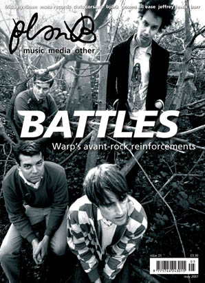 Plan B Magazine Issue XX cover - Battles. Art direction and design by Andrew Clare, photography by XX