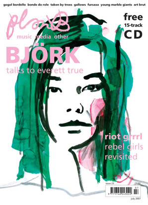 Plan B Magazine Issue XX cover - Bjork. Art direction and design by Andrew Clare, photography by XX