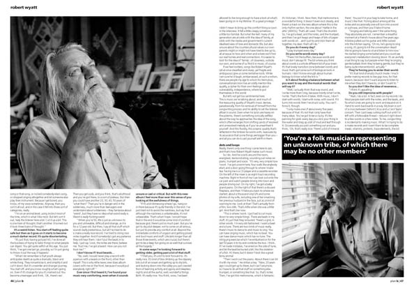 Plan B Magazine Issue XX feature - Robert Wyatt. Art direction and design by Andrew Clare, photography by XX