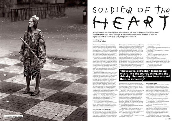 Plan B Magazine Issue XX feature - Scout Niblett. Art direction and design by Andrew Clare, photography by XX