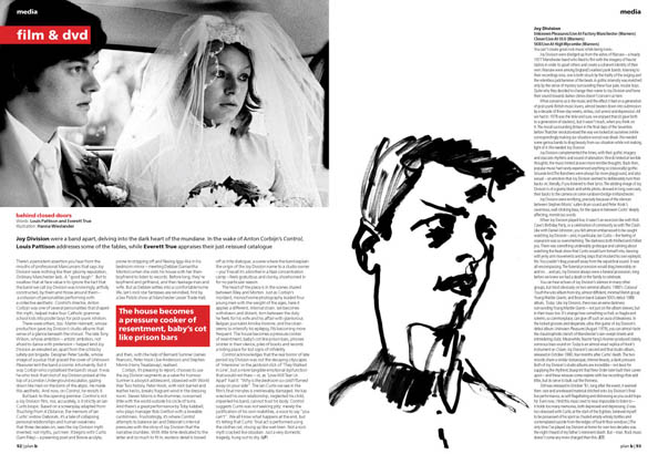 Plan B Magazine Issue XX feature - Joy Division / Control. Art direction and design by Andrew Clare, photography by XX