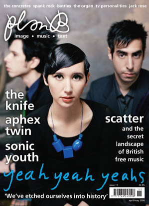 Plan B Magazine Issue 11 cover - Yeah Yeah Yeahs. Art direction and design by Andrew Clare, photography by Autumn DeWilde