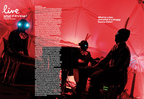 Plan B Magazine Issue 41 feature - The Residents. Art direction and design by Andrew Clare, photography by Jamie Gladden