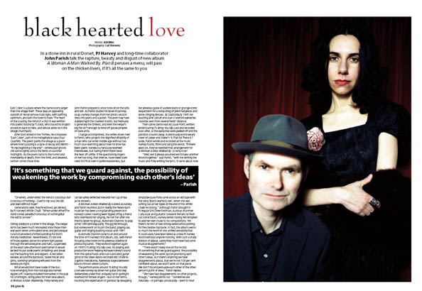 Plan B Magazine Issue XX feature - PJ Harvey and John Parish. Art direction and design by Andrew Clare, photography by XX