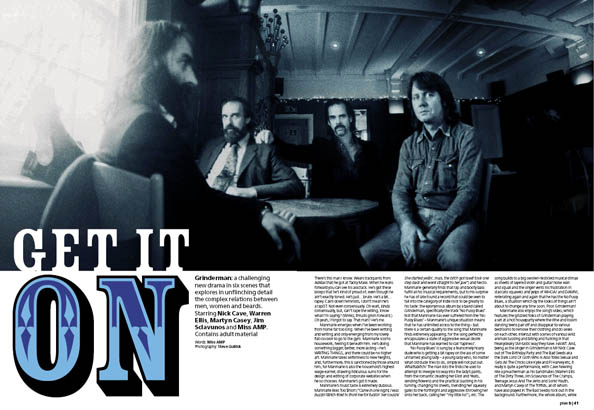 Plan B Magazine Issue 19 feature - Grinder Man. Art direction and design by Andrew Clare, photography by Steve Gullick