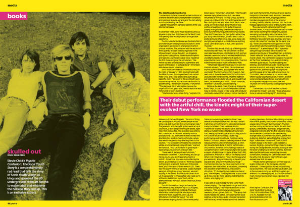 Plan B Magazine Issue 34 feature - Sonic Youth. Art direction and design by Andrew Clare