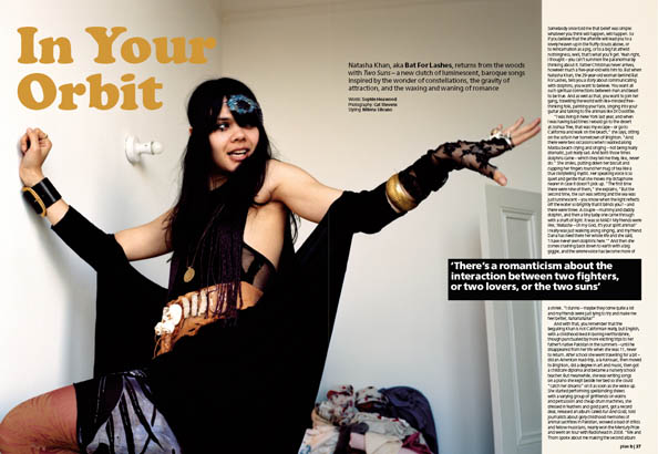 Plan B Magazine Issue XX feature - Bat For Lashes. Art direction and design by Andrew Clare, photography by XX